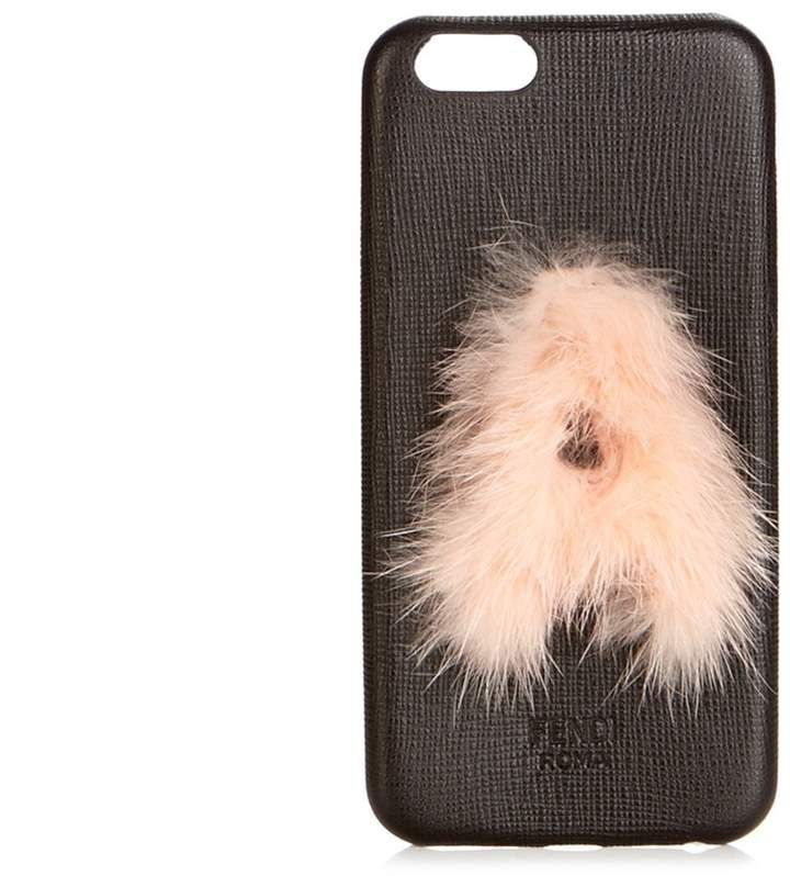 X mink-fur and leather iPhone 6 case Fendi fZlYIFW