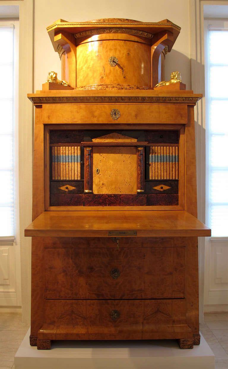 Berlin early Biedermeier Secretary desk   From a unique collection ...