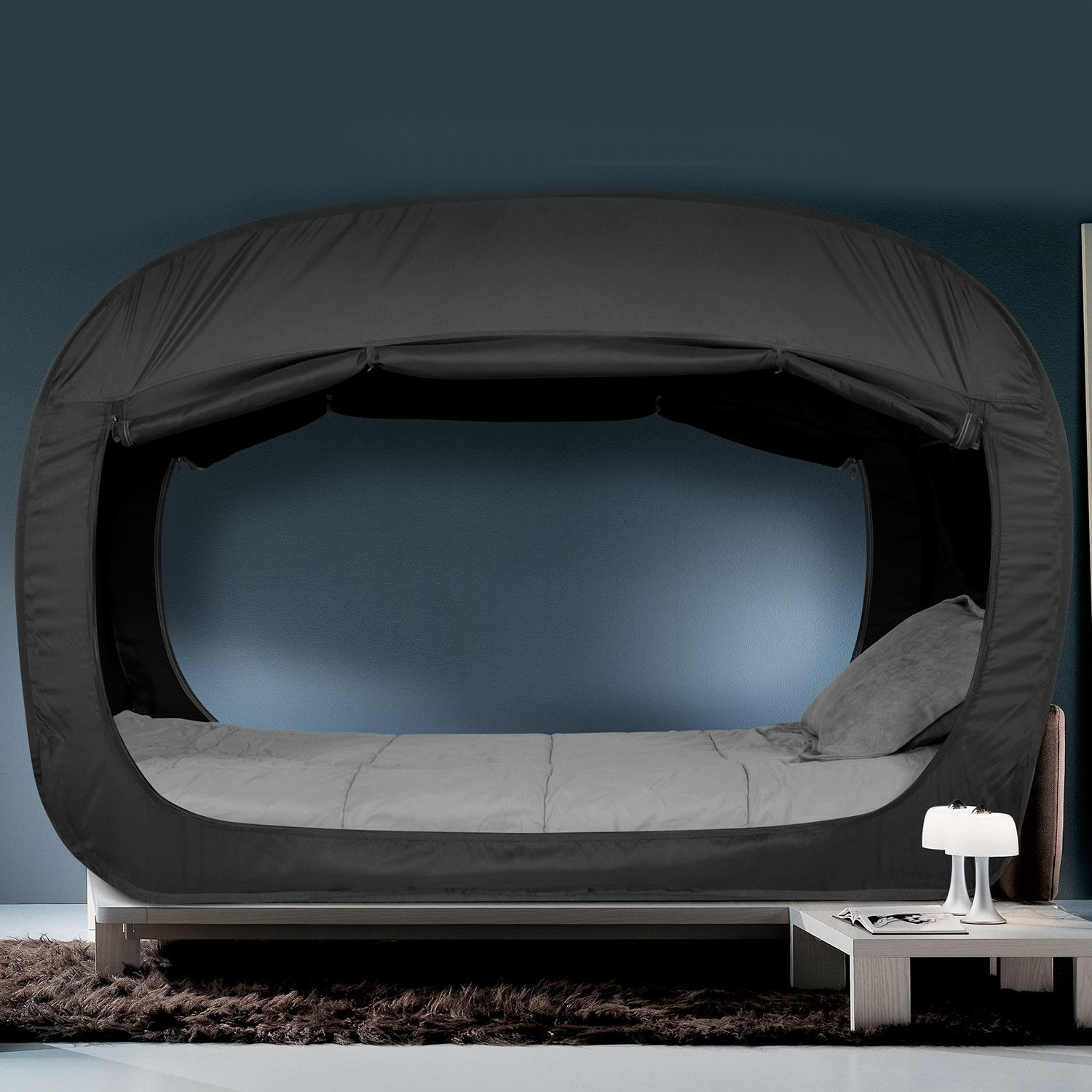 Privacy Pop Bed Tent // Black (Twin) Bed tent