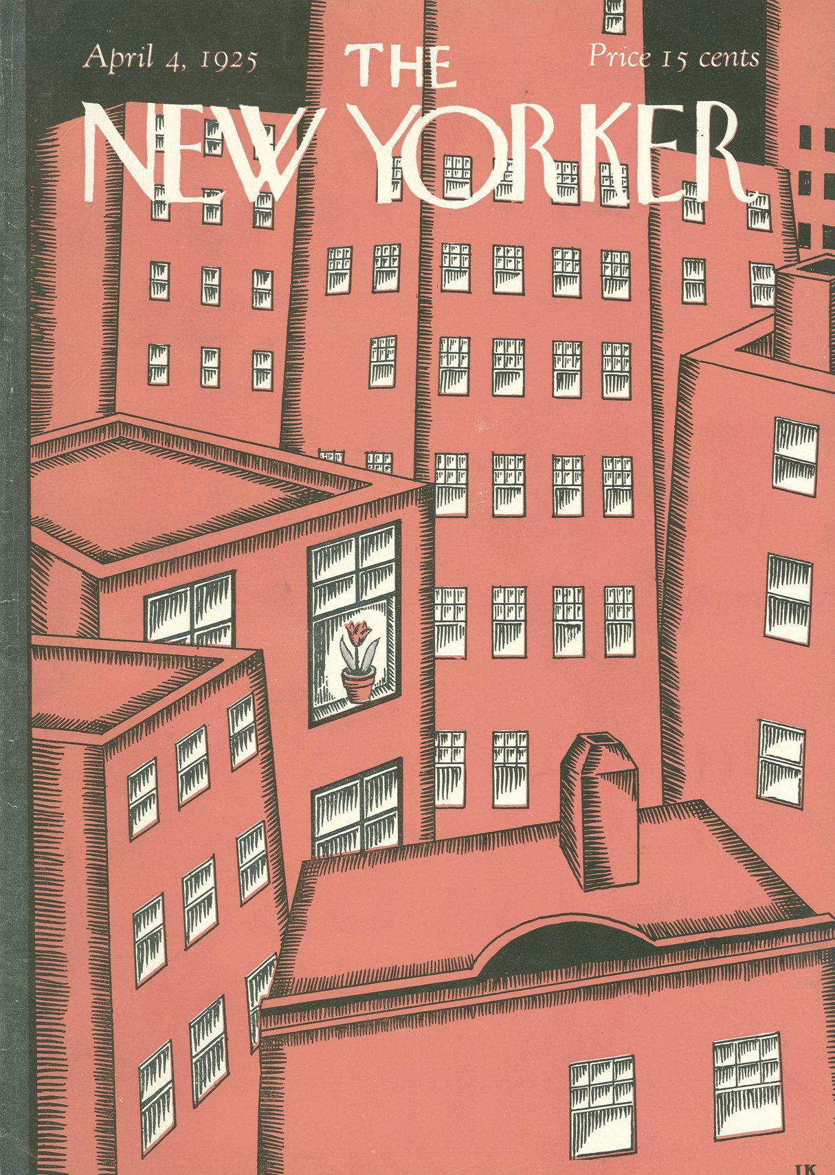 The New Yorker - Saturday, April 4, 1925 - Issue # 7 - Vol. 1 - N° 7 - Cover by : Ilonka Karasz