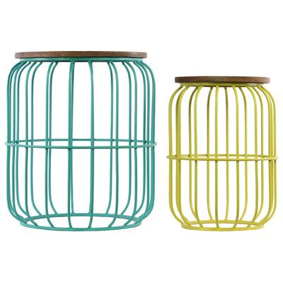 Youu0027ll Love The 2 Piece Barrel Shaped End Table Set At Wayfair   Great