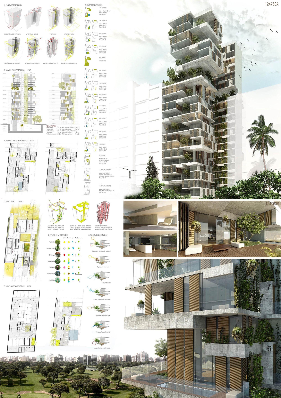 Menci n honrosa concurso skycondos de per gea arquitectos diagram inspiration - Grune architektur ...