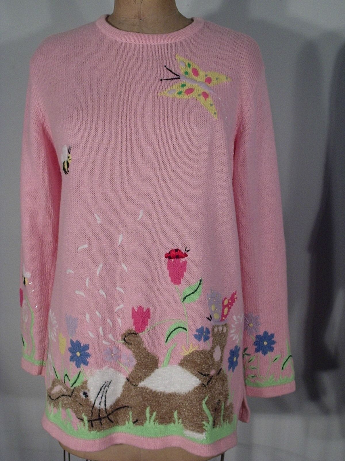 Quacker Factory Ugly Easter Sweater on auction at eBay