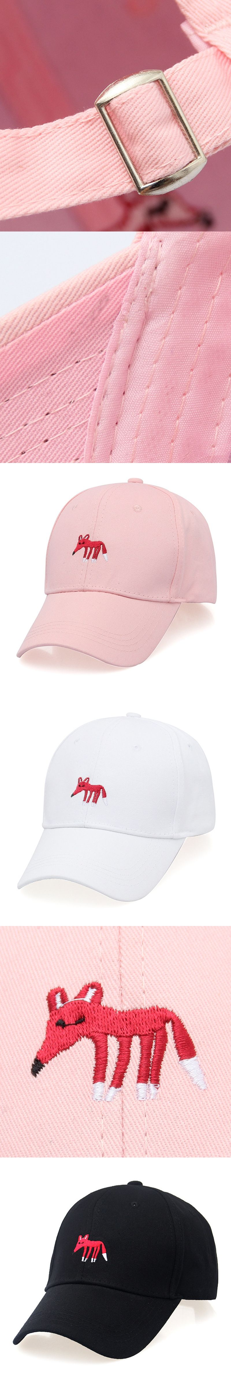 3a1b36e492b Women s Cap Snapback Pink black white Cactus Fox Embroidery Dad hat Men s  Summer Baseball Caps Hip
