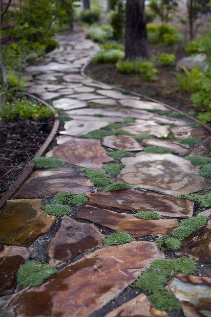 32 Natural And Creative Stone Garden Path Ideas Stone Garden