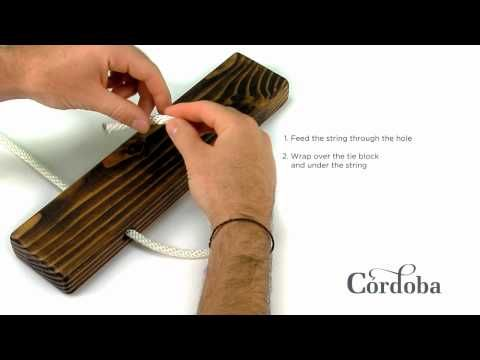 How To Tie Strings On A Classical Or Nylon String Guitar