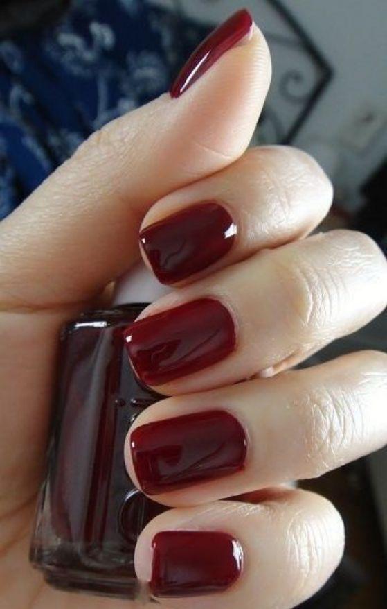 uñas naturales color vino | Uńas | Pinterest