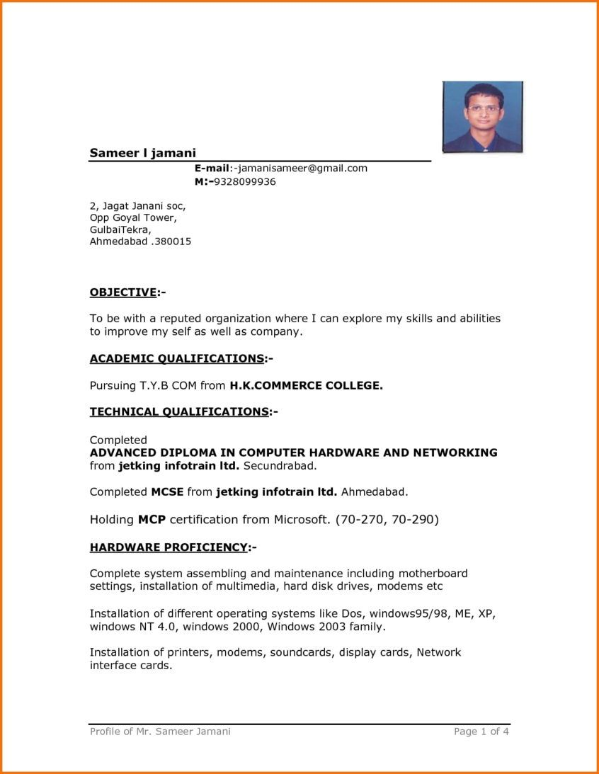 Resume Simple Resume Templates Format Word Template Example In