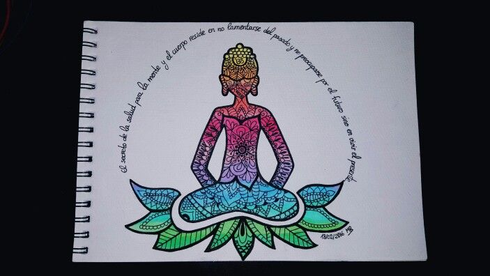 """""""El secreto de la salud para la mente y el cuerpo reside en no lamentarse del pasado y no preocuparse por el futuro, sino en vivir el presente"""" #palopart #buda #mandala #arte #pintura #dibujo #arteterapia"""