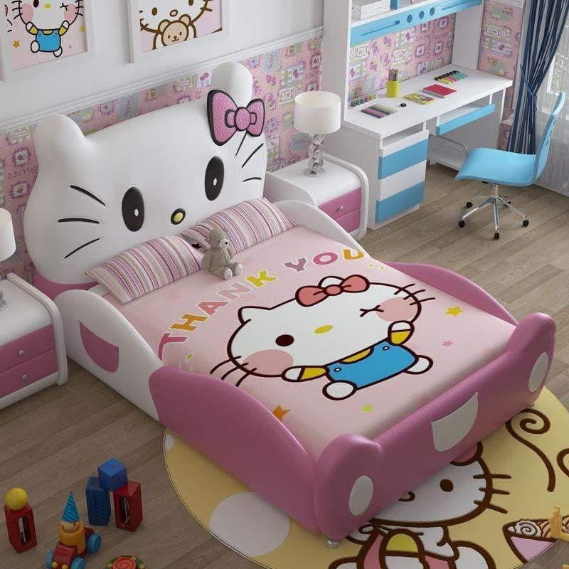 Modern design hello kitty pink leather children bedroom ...