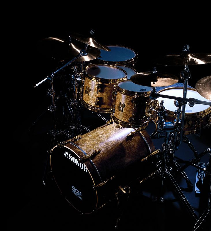 Sonor The Most Beautiful Finish Ever Golden Madrone Percussie