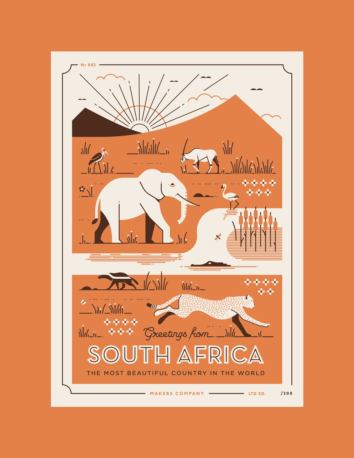 Greetings From South Africa Postcards Series On Behance Dinner