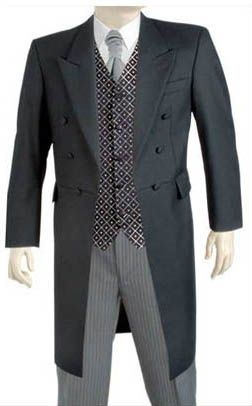 Frock coats as a possible wedding choice. http://www.baronboutique ...