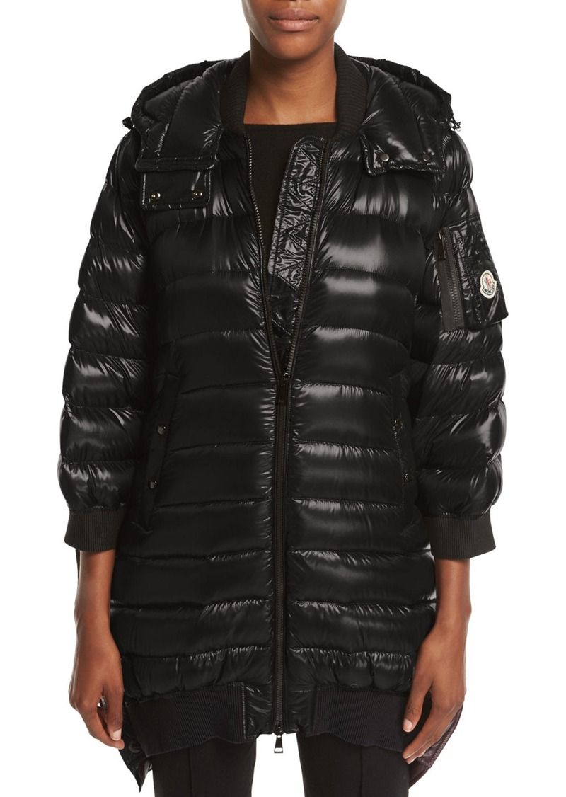 Moncler Bamboo Shiny Side Snap Quilted Puffer Jacket Quilted Puffer Jacket Puffer Jackets Puffer [ 1126 x 800 Pixel ]