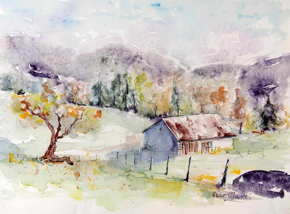 Aquarelles Martine Jacquel Saint Ellier Saumur Comment Peindre
