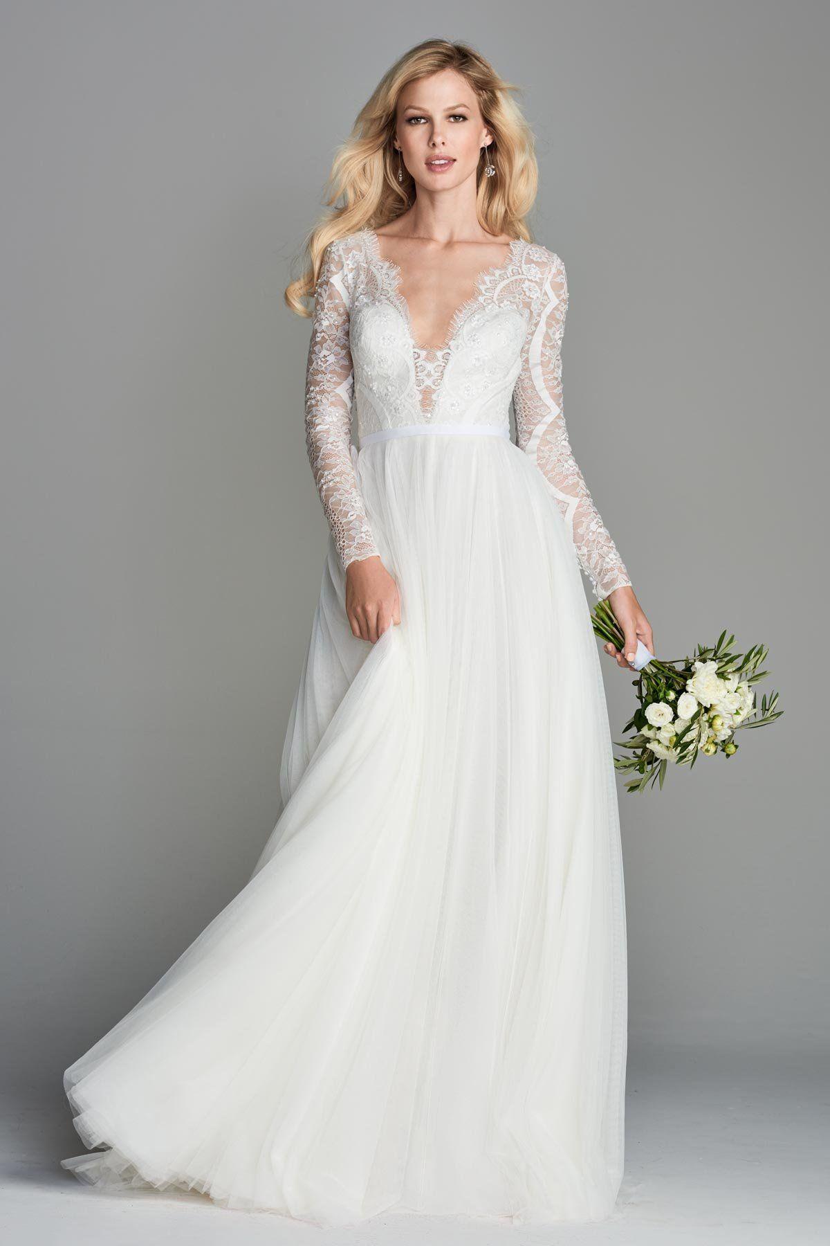 Wtoo By Watters 10708b Nahara Soft Lace A Line Wedding Dress