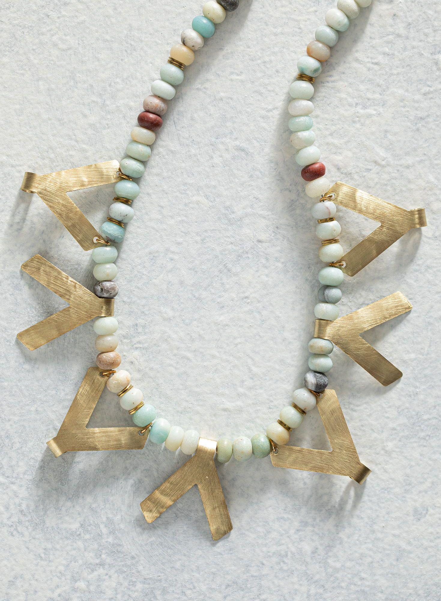 Qala Amazonite Bead Necklace In