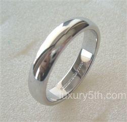 b7cb6f24a TIFFANY & Co. Platinum 4.5mm Lucida Wedding Band Ring 8 | TIFFANY ...