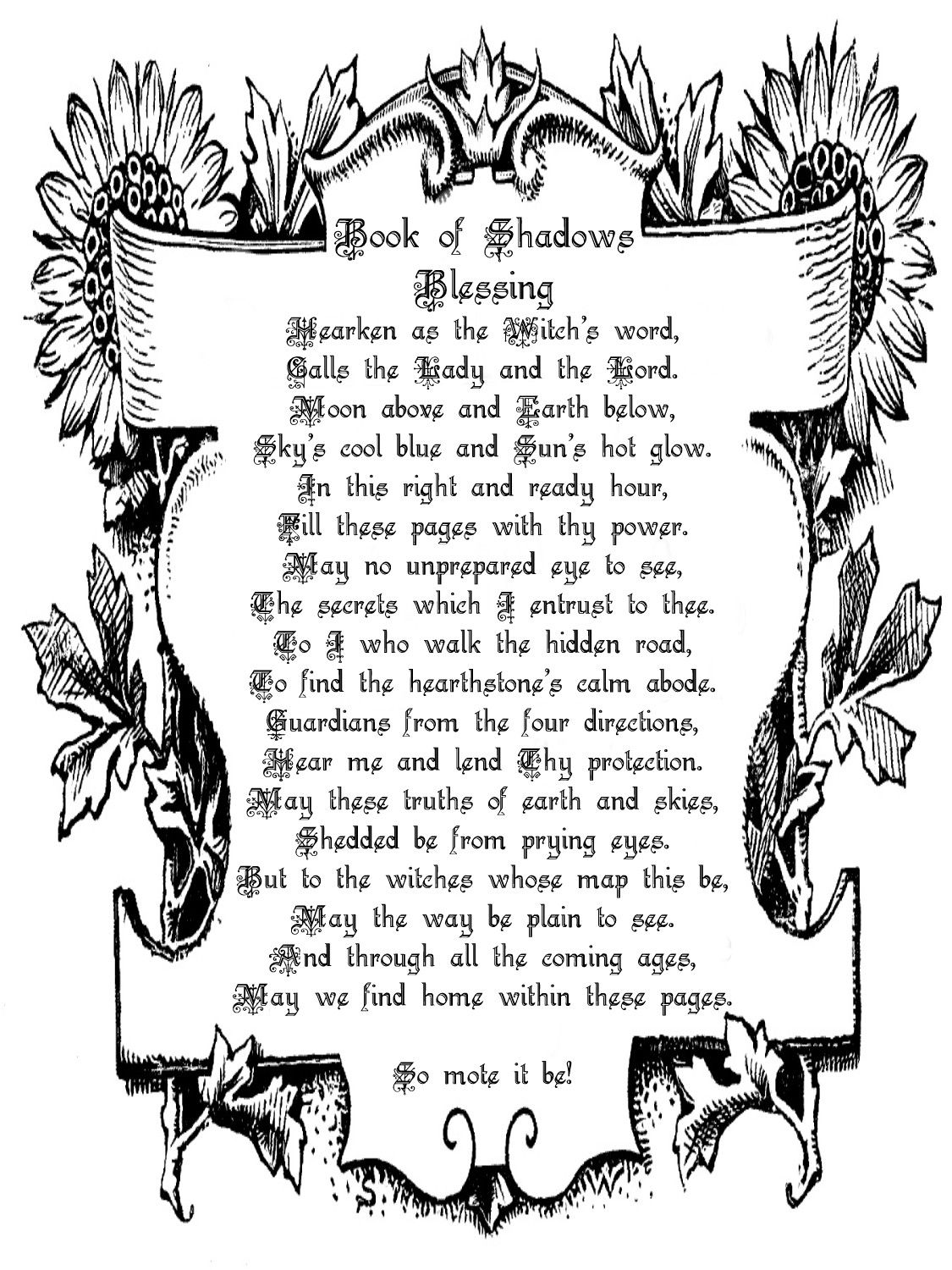 Book of shadows blessing blessings magick and yule book of shadows blessing fandeluxe Images