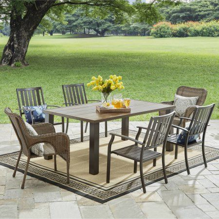 7df30c59ce9751a3bc1c3a9fd35813c9 - Better Homes & Gardens Camrose Farmhouse 6 Person Dining Table
