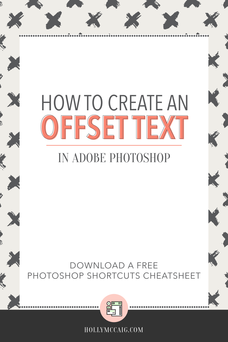 How to Create an Offset Outline Text Effect in Photoshop