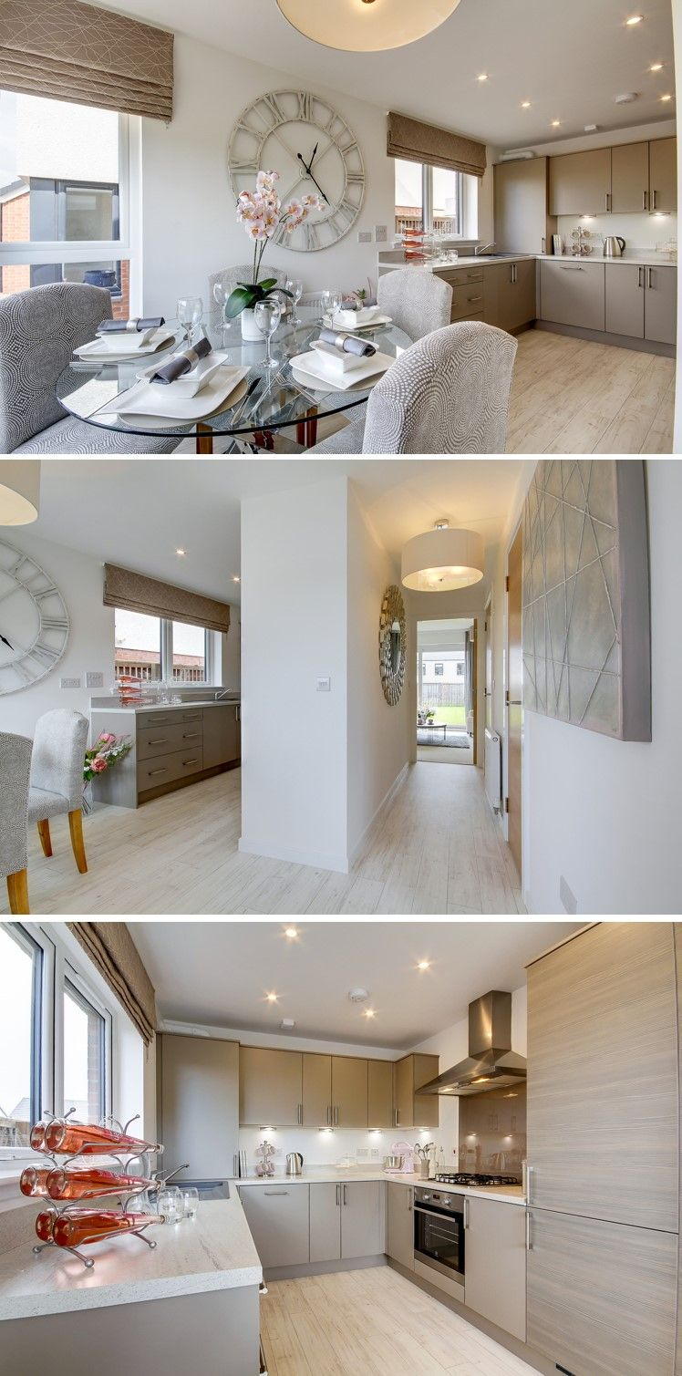 Lovely grey and wooden colors and modern decor in typical Hughes home from Mactaggart and Mickel in Ayrshire.