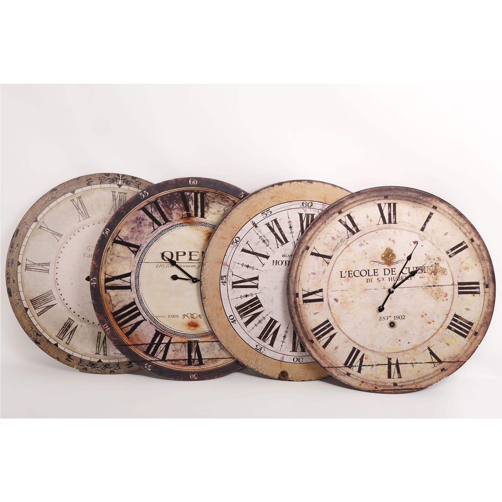 New 60cm Large Wall Clock Wooden Antique French Vintage Country
