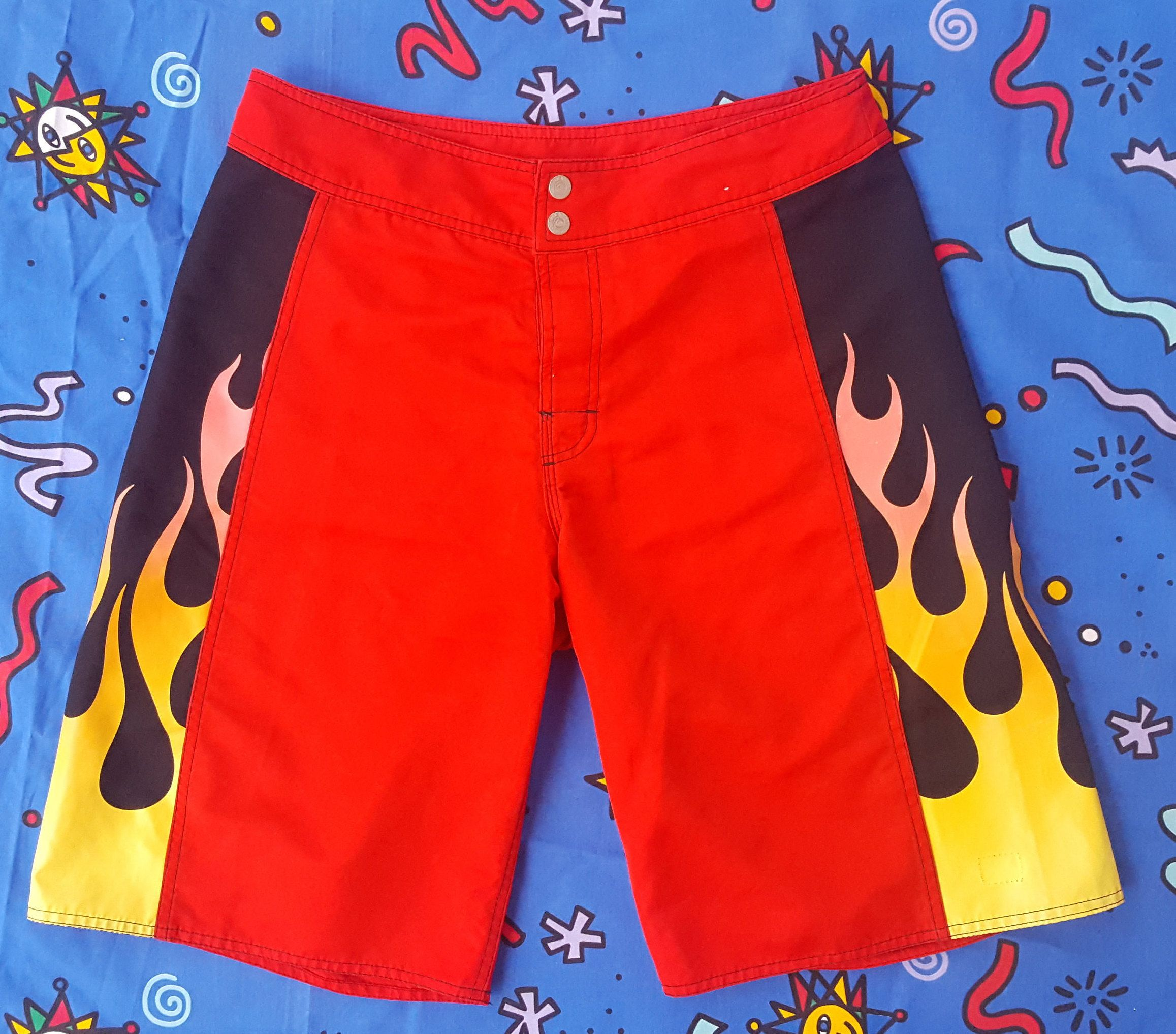 44d910e9c4a 90s Quiksilver Flame Shorts, Flames, Vintage Swim Trunks, Rusty, Surfwear,  Surf Brand, Fire, Street, Streetwear, Gangsta, OG, Skate, Grunge by  NEONPOINT on ...