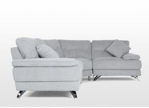 Grey Fabric Corner Sofa And Swivel Chair Package Eros Ez Living