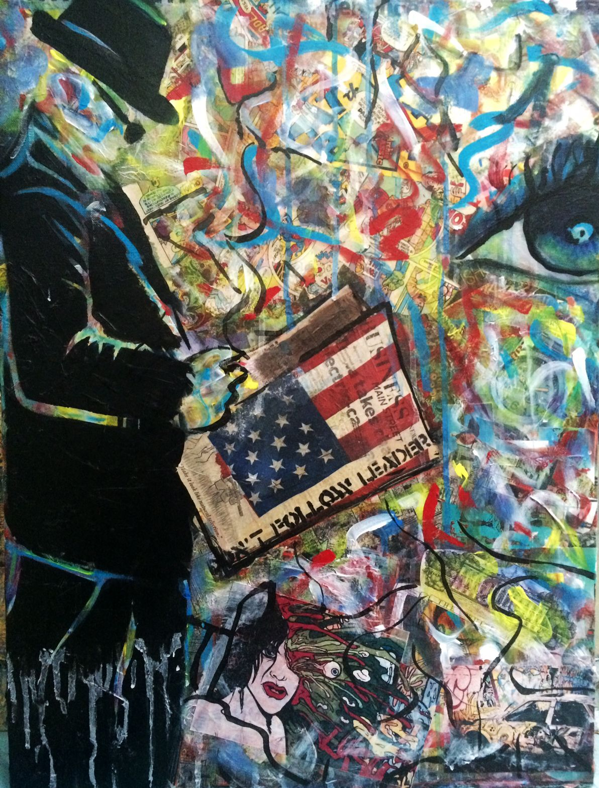 Graffiti art modern contemporary cool spray paint stencil collage