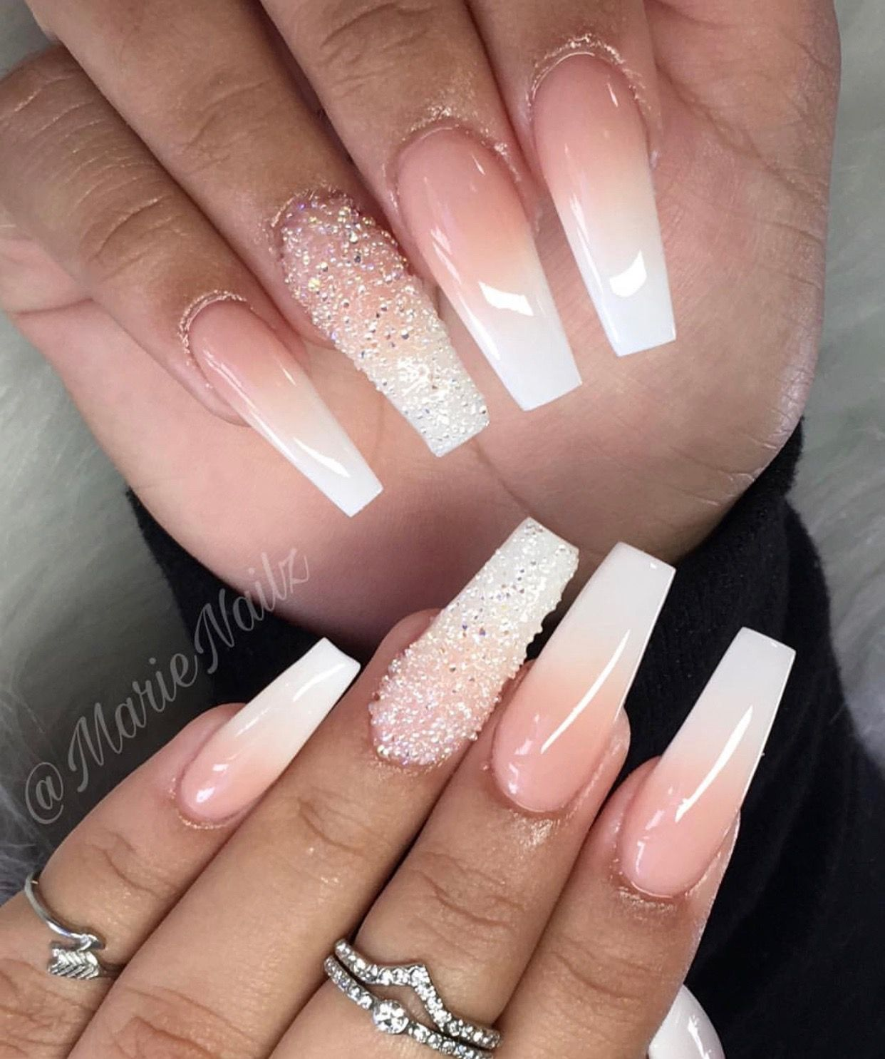 Pin By Glam Dolls On N A I L S Square Acrylic Nails Shiny Nails Designs Birthday Nails