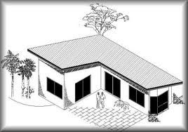 Image result for L shaped guest house with storage ...