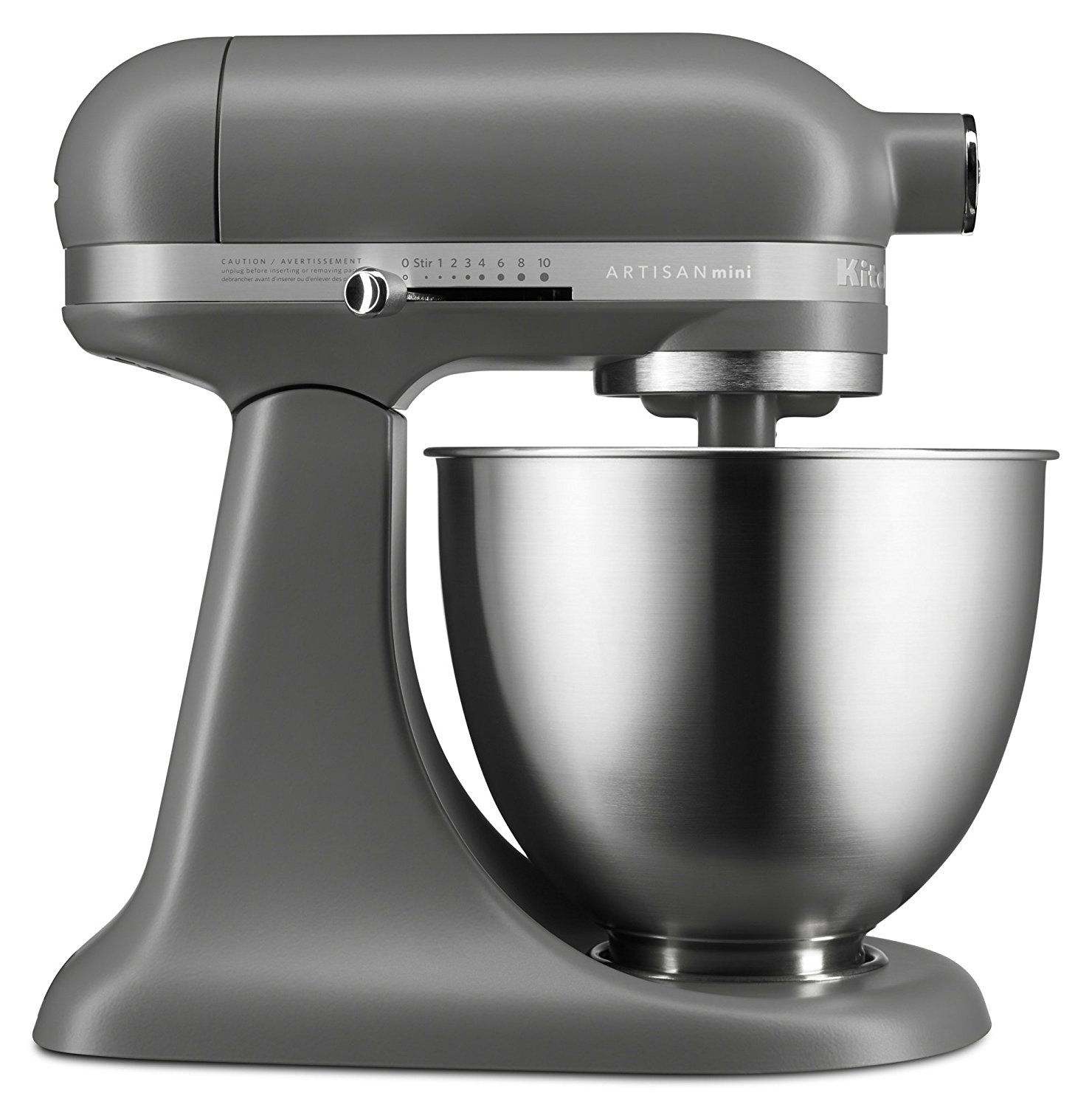 The Matte Gray Artisan Mini Mixer For Your Kitchen A Shade Of