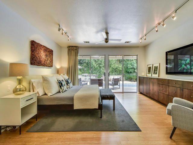 incredible hardwood floor bedroom   Incredible master bedroom with hardwood floors, natural ...