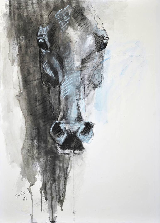 """Saatchi Art Artist Benedicte Gele; Drawing, """"Alert 2t"""" #art"""