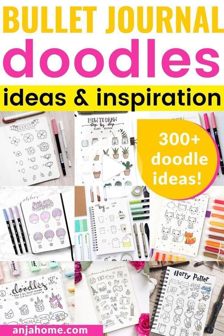 Bullet Journal Doodle Ideas [with step-by-step tutorials] - AnjaHome