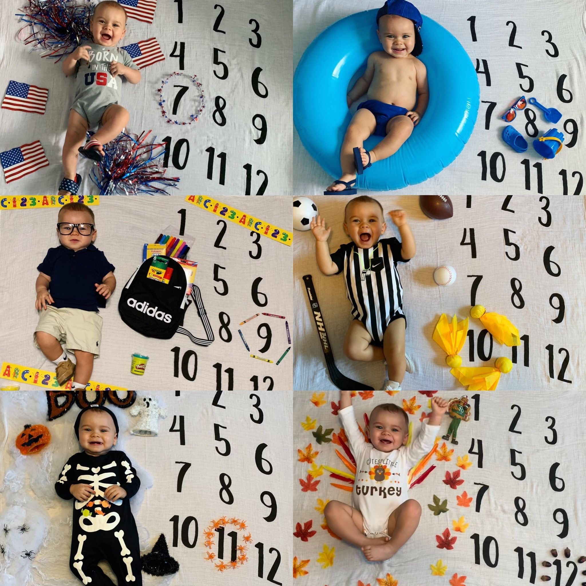 Baby Monthly Milestone Blanket Picture In 2020 Baby Calendar Monthly Baby Photos Baby Month By Month
