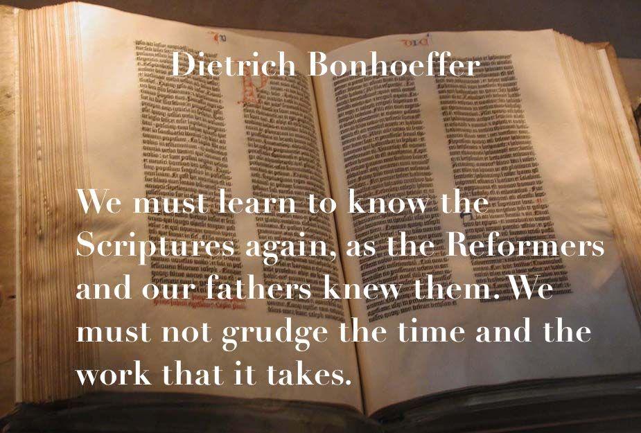 Dietrich Bonhoeffer Quote, Bible, Scriptures, Read And