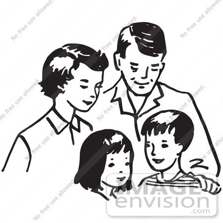 Happy Family Clipart Black And White Free Clipart Illustration Of Q68mec Clipart Jp Happy Family Clipart Family Clipart Black And White Clipart Black And White