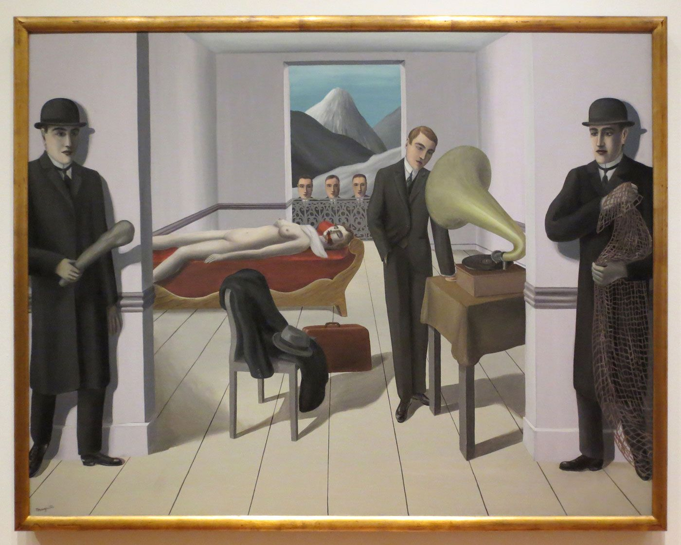 René Magritte, The Menaced Assassin, 1927, The Museum of Modern Art, New York