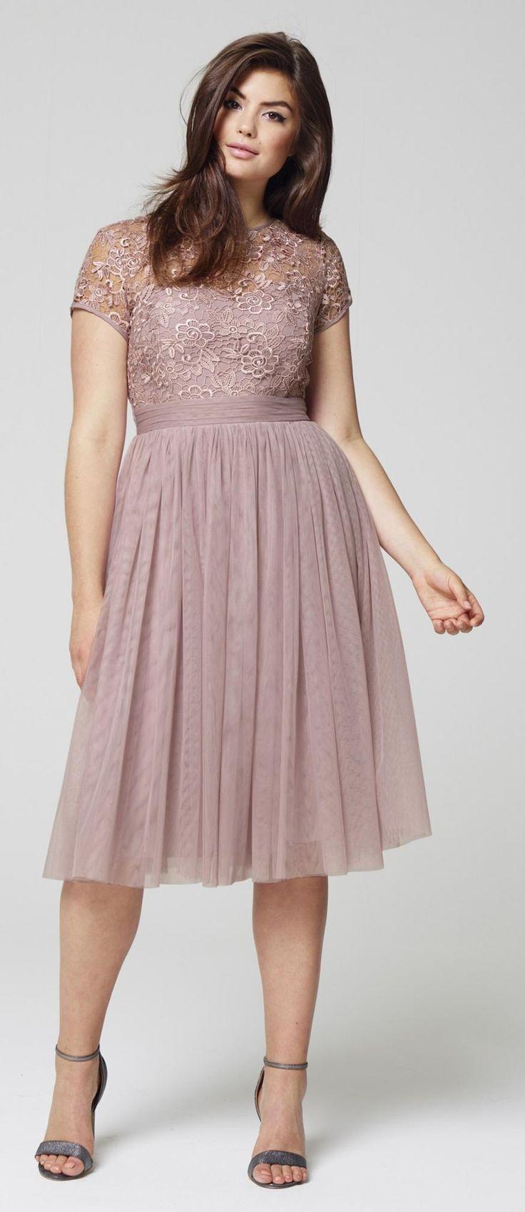 Plus Size Mesh Skater Dress big size fashion http://amzn.to ...