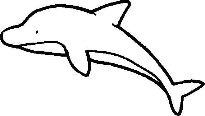 Kleurplaat Dolfijn Ocean Life Pinterest Beach Drawing Ocean