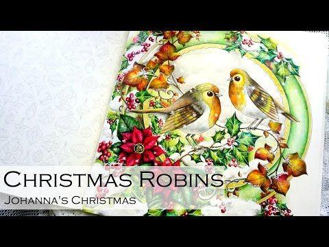Christmas Robins Adult Coloring Book Johanna 39 s
