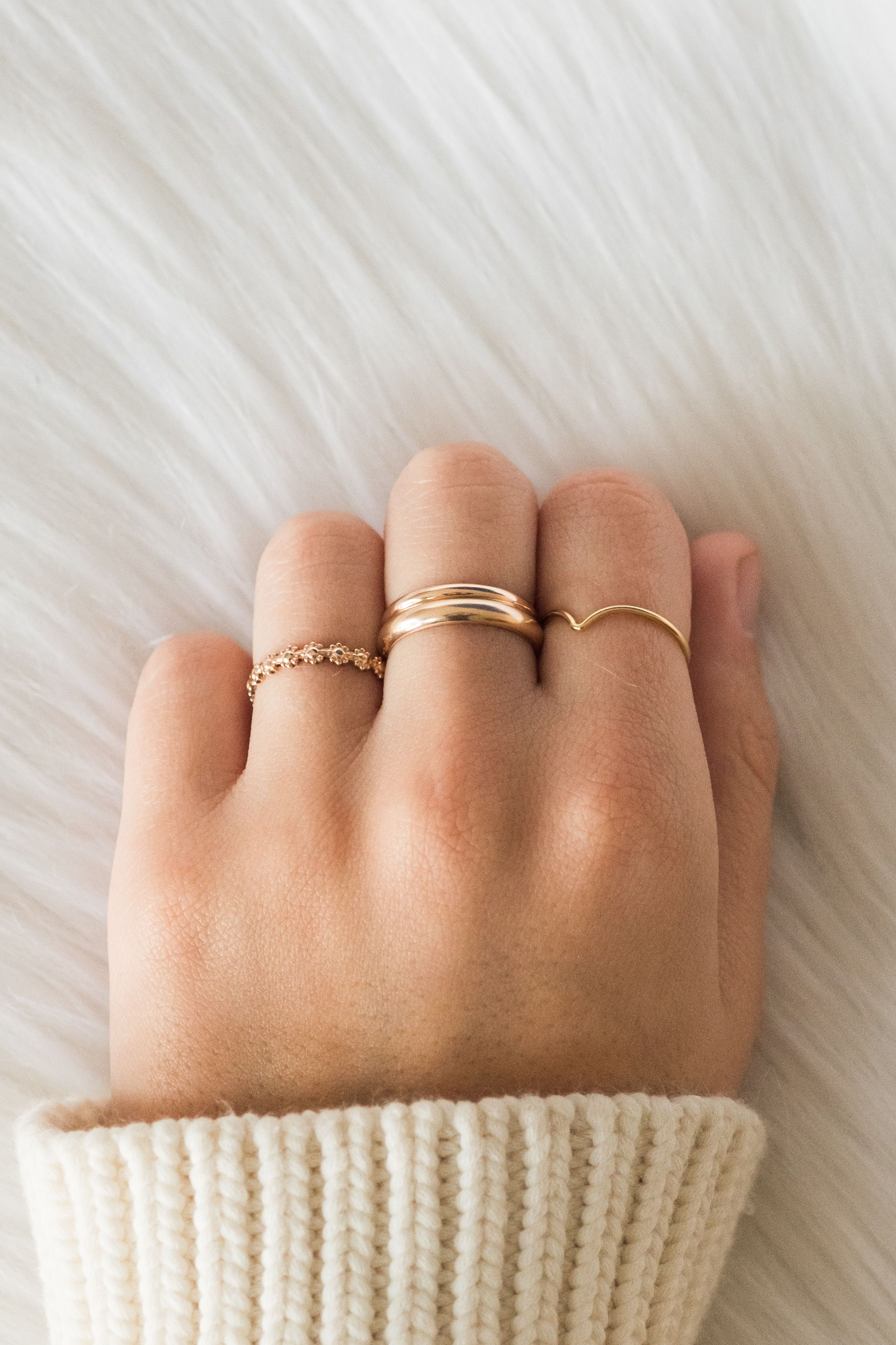 Photo of Dainty Stacking Rings & Bold Rings