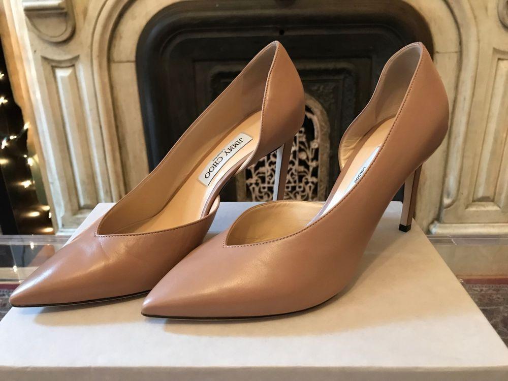 13e03b7d4440 Jimmy Choo Sophia 85   Ballet Pink   Size 10  fashion  clothing  shoes   accessories  womensshoes  heels (ebay link)