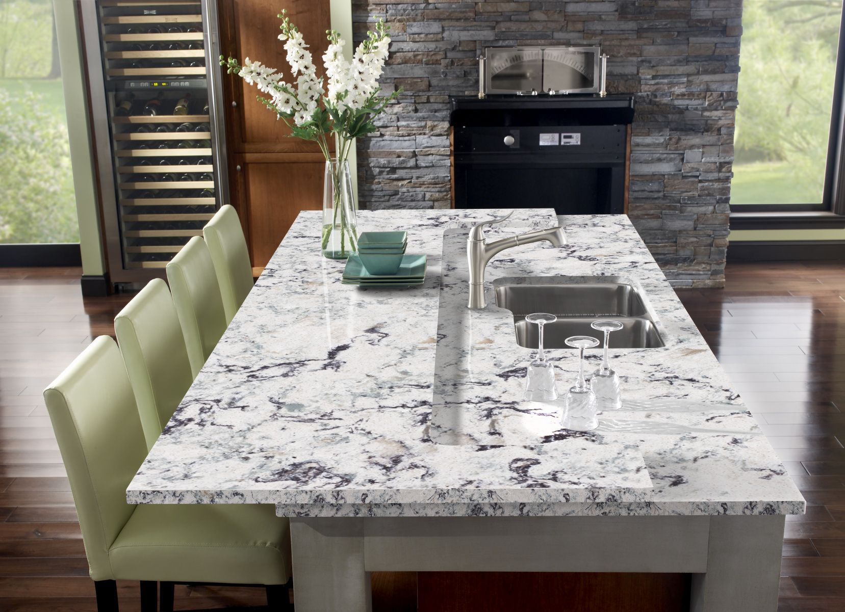 77 Oyster Quartz Countertop Remodeling Ideas For Kitchens Check