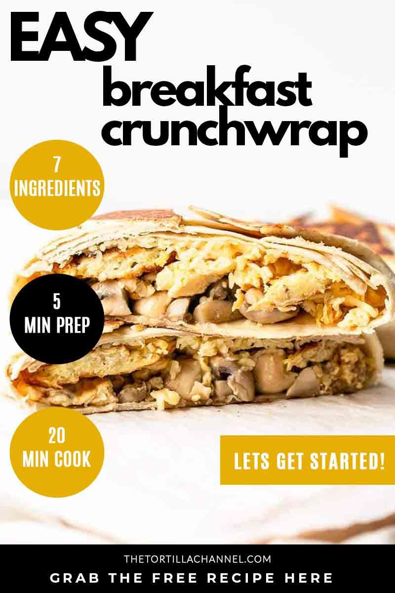 Breakfast crunchwrap recipe in 2020 recipes breakfast