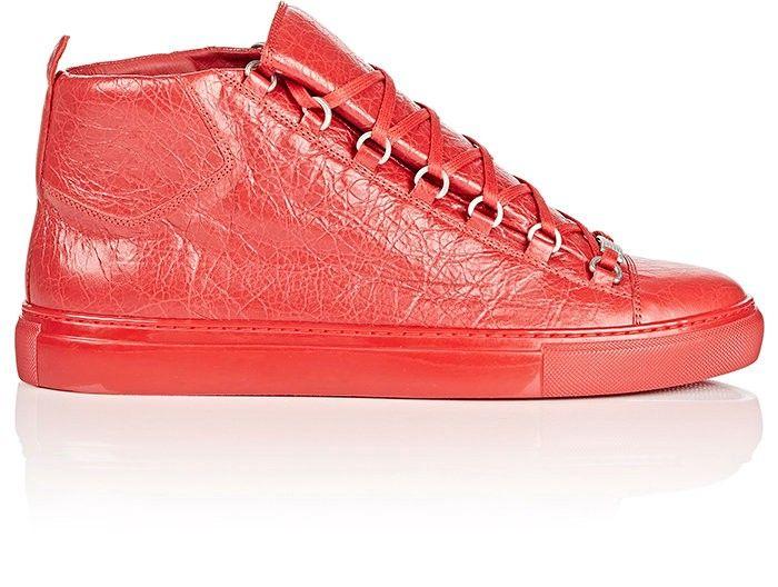 d3fea51fb77c2 BALENCIAGA Men S Arena Leather Sneakers.  balenciaga  shoes  all ...
