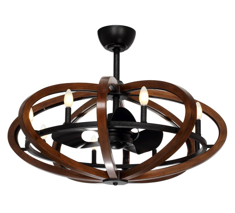 Maxim lighting fandelier antique pecan and anthracite led ceiling fan with light at destination lighting