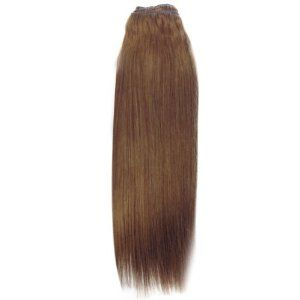 human hair weft medium brown 6 24 inch 100g hair